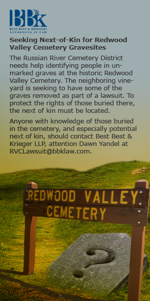 Redwood Valley Cemetery Ad