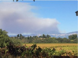 View of the Sawmill Fire outside Cloverdale from Cal Fire PIO's Berlant on Twitter.