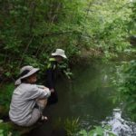 Lyn Talkovsky and Kirk Lumpkin assist with Long Valley Creek monitoring on May 30. Photo by Pat Higgins:ERRP